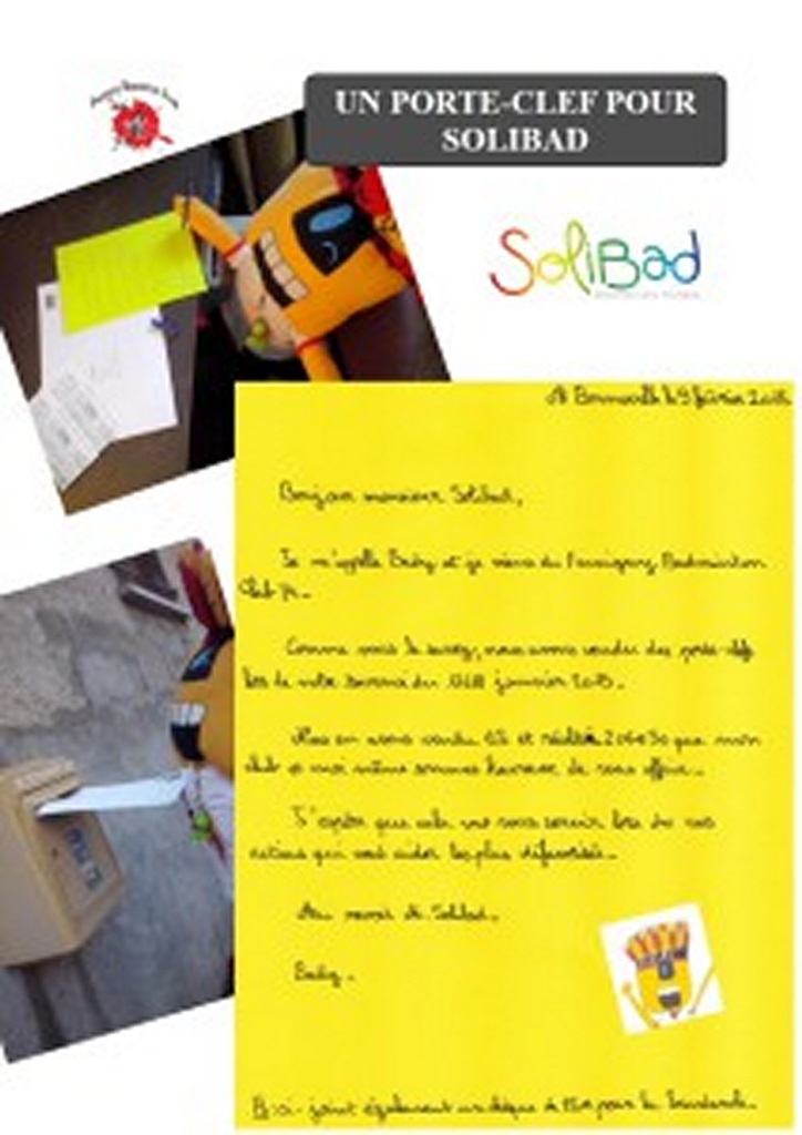 LETTRE A SOLIBAD