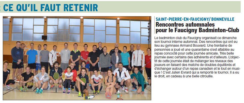 FBC74 Article Dauphiné Rencontres Automnales
