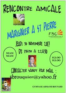 RENCONTRE AMICALE MARIGNIER A ST PIERRE 30-11-2017