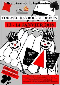 AFFICHE 1 TOURNOI DES ROIS ET REINES 2018