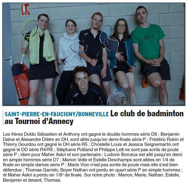 Article tournoi Annecy