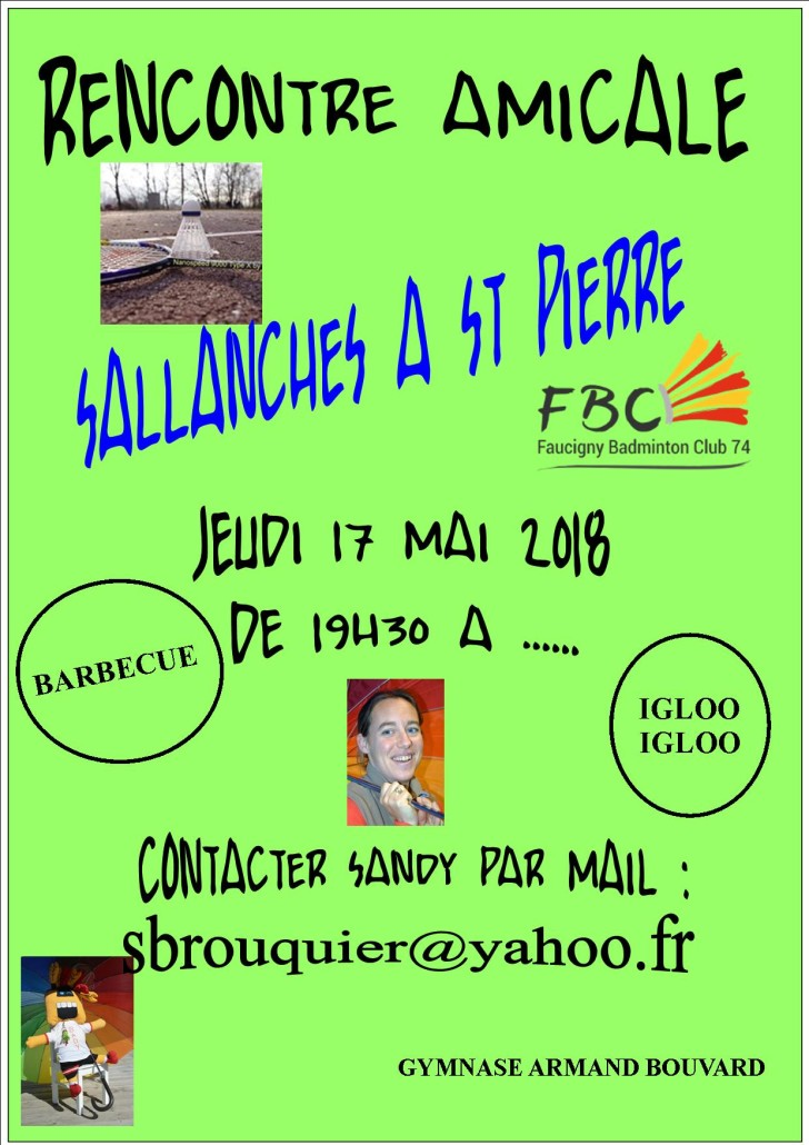 RENCONTRE AMICALE SALLANCHE A ST PIERRE