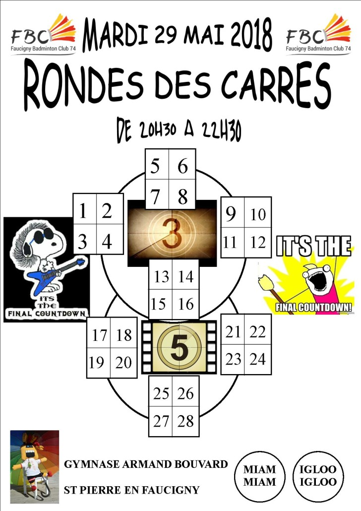 RONDE DES CARRES THE FINAL COUNTDOWN