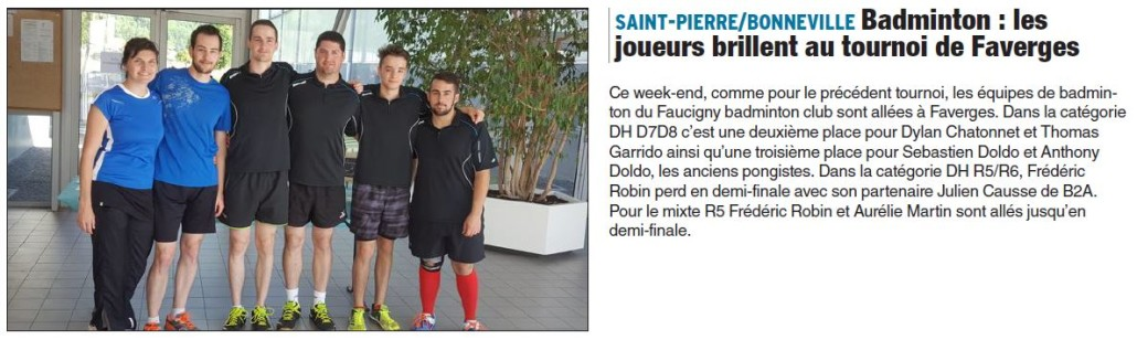 Article Tournoi Faverges