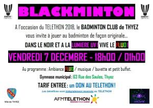 2018 - Affichage Blackminton
