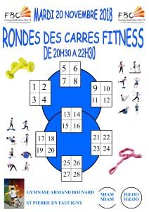 RONDE DES CARRES FITNESS MARDI 20 NOVEMBRE 2018