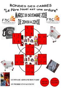 RONDE DES CARRES LE PERE NOEL EST UNE ORDURE MARDI 18 DECEMBRE 2018