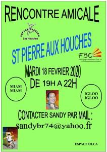 RENCONTRE AMICALE 2020 MARDI 18 FEVRIER ST PIERRE AU HOUCHES