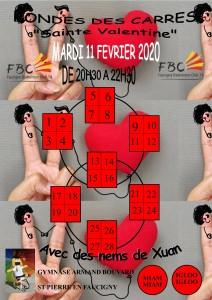 RONDE DES CARRES STE VALENTINE MARDI 11 FEVRIER 2020